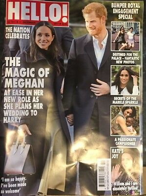 Hello Magazine 11/12/17 December 2017 Price Harry Meghan Markle Royal Engagement