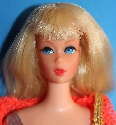 Barbie Dramatic New Living Blonde Vintage Doll #1116 1969 '60