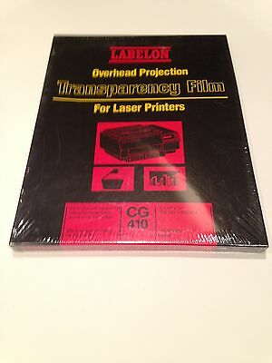 New CG 410 Labelon Overhead Projection Transparency film