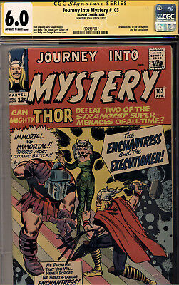 Journey Into Mystery #103 Cgc 6.0 Ss Stan Lee! 1St App Enchantress/executioner!