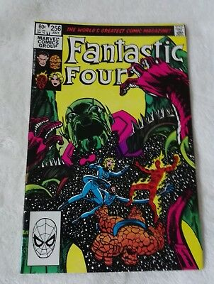 marvel comics fantastic four #256,july 1983,nice high grade nm,bagged & boarded