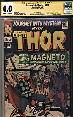Journey Into Mystery #109 Cgc 4.0 Ss Stan Lee! Magneto-Scarlet Witch,quicksilver