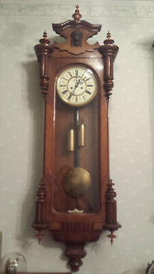 Concordia 1886-1890 2 weight Vienna regulator clock