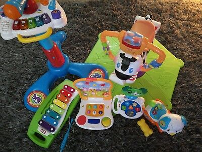 Large Baby Toddler Toy Bundle Fisher Price spinning zebra, vtech sit to stand