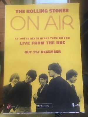 The Rolling Stones - On Air; Live from the BBC. Promo poster (mint)