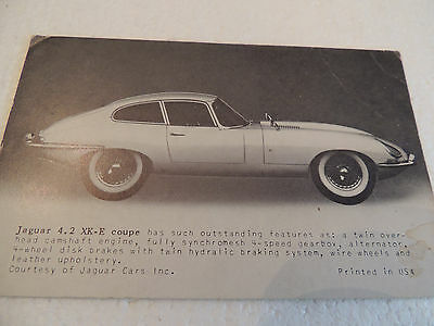 1960's Jaguar 4.2 XKE Coupe arcade card