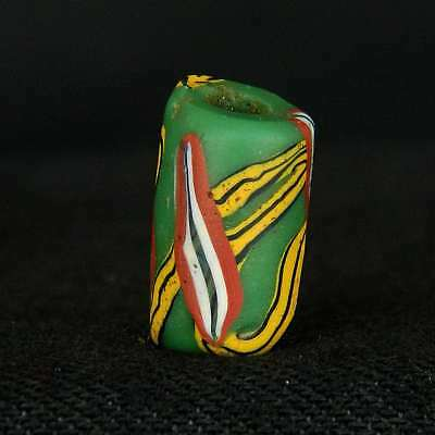 ANCIENT Venitian MILLEFIORE Glass BEAD - 13 mm LONG - 1800s /1900s - Sahara