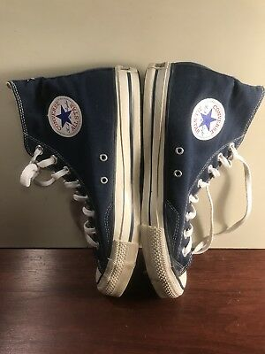 Vintage Converse Chuck Taylor Size 9.5 Made In The USA 9 1/2 Navy Blue Hi Top