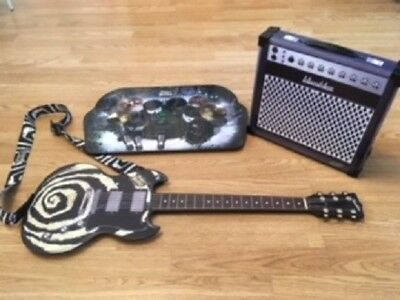 Wow Wee Paper Jamz Guitar, Amp box and Drum Kit