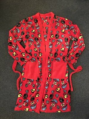 Boys Angry Birds Dressing Gown 11/12 Years
