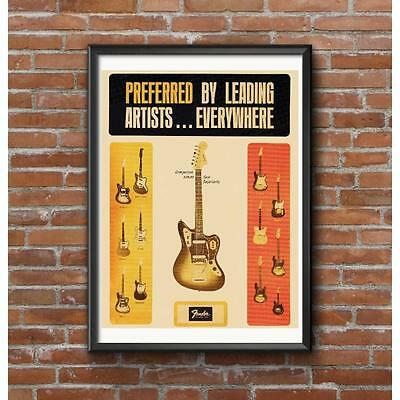 1965 Classic Guitar Dealer Promotional Poster - Full Line of Instruments