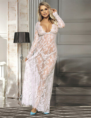 RBM Sexy Negligee NIGHTIE Lingerie Lace 10 12 14 16 18 Beautiful Black or White