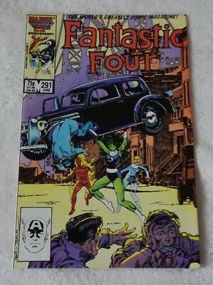 marvel comics fantastic four #291,june 1986,in high grade nm-/nm,bagged boarded