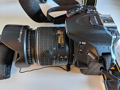 Nikon D5500 w/ 18-55mm Lens, 2 SD cards, carrying bag, 6 lens filters and more