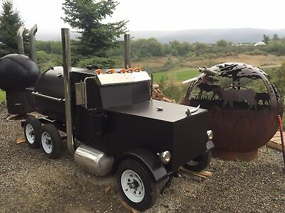 Custom Made Peterbilt Reverse Flow Bbq Smoker