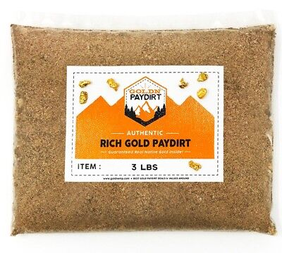 3 POUNDS Rich Unsearched Gold Paydirt - gold panning concentrates ADDED GOLD!