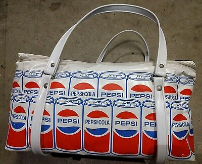 PEPSI Cooler Bag Awesome Graphic Soft Vinyl Vintage Rare Collectible Nice Shape
