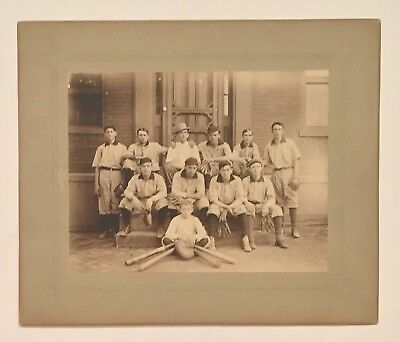 Circa 1890's Baseball Team Cabinet Photo Antique Early Old 1900 1910 Vintage