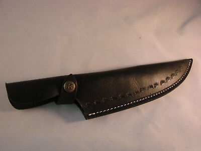 Leather Sheath for Fixed Blade Knife, Black
