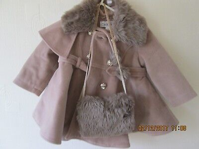 lovely couche tot coat/hat and muff set age 12-18 months