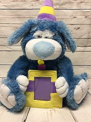 Baby Nursery Picture Frame Stuffed Animal Blue Bear Photo keeper Boys Decor