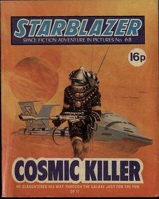 Cosmic Killer,starblazer Space Fiction Adventure In Pictures,no.68,1982