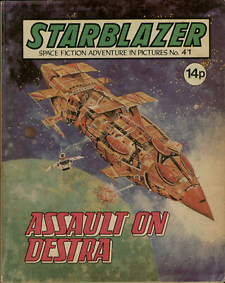 Assault On Destra,no.41,starblazer Space Fiction Adventure In Pictures,1981