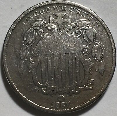 1867 Shield 5C With No Rays