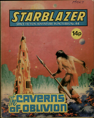 Caverns Of Oblivion,starblazer Space Fiction Adventure In Pictures,no.44, 1981