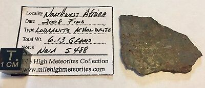 NWA 5488 Lodranite Achondrite Meteorite - Large 6.13 g Full Slice - Very Low TKW