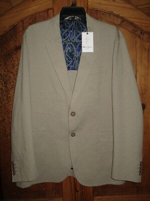 Men's ROBERT GRAHAM Tailored Fit Jarvis-L/S Woven Sportcoat Sz XL-44 NWT