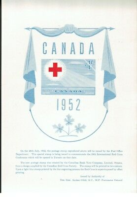 Canada Post Office Stamp Issue Poster 317 Red Cross - MINT!