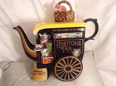 Cardew Collectable Large Novelty Teapot Ringtons Tea Carriage Great Condition