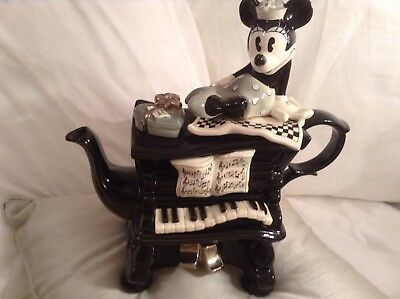 Cardew Collectable Minnie Mouse Grand Piano Novelty Teapot,perfect Condition