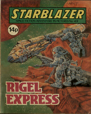 Rigel Express,starblazer Space Fiction Adventure In Pictures,no.49,1981