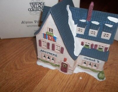Dept. 56 Alpine Village Series  Apotek & Tabok (pharmacy)