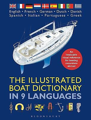 The Illustrated Boat Dictionary in 9 Languages Book Manual Visual Reference NEW