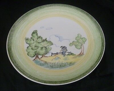 """Clarice Cliff Bizarre Crayon Scene 9"""" Dished Plate....MINT"""