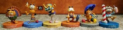 Lot of 6 Garfield Party Figures by Enesco