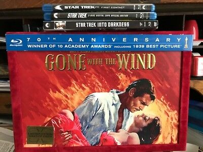 Lot of 4 Blu Rays/ Gone with the Wind, Star Trek VIII ect.
