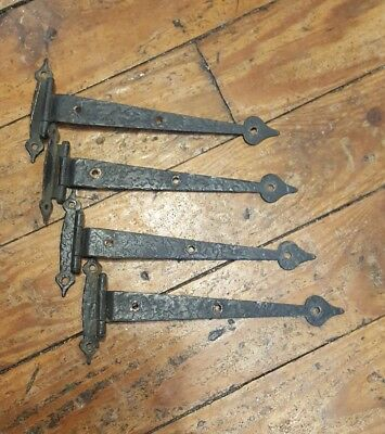 "Lot 4 Vintage Antique Rustic Gate Door Barn Hinges 6 1/2"" Long"