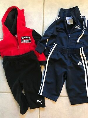 baby boy 3-6 month sweat suit warmup outfits