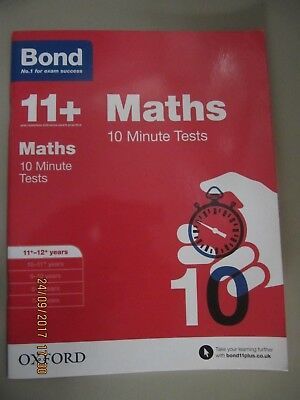 Bond 11+ Maths 10 Minute Tests 11-12+ years