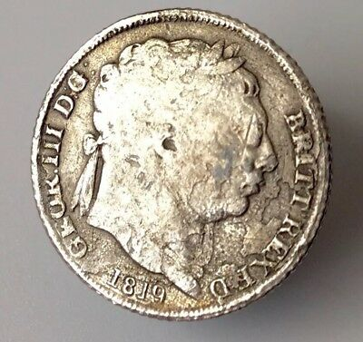 George III Sixpence 1819 coin