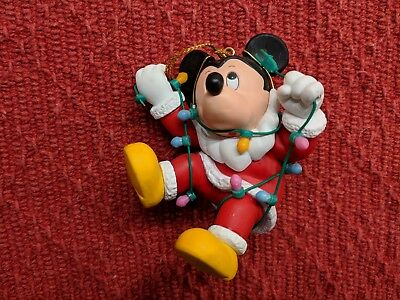 Mickey Mouse With Lights Disney Grolier Christmas Collectible Xmas Ornament