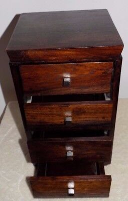 Old 4 Mini Drawers For Storage : Or Just For Show Good Condition