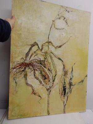 really old painting oil sweet corn artist signed