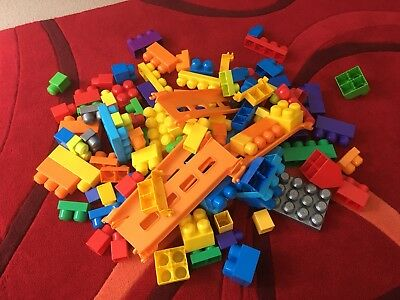 Kids Mega Blocks With Storage Bucket Included
