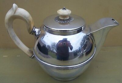 Fine Antique Georgian German Solid silver teapot, 481 grams, Frankfurt, c1810