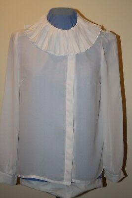 Sheer Vintage Parisian chic ladies blouse.  Secretary blouse. crepe de chine 40""